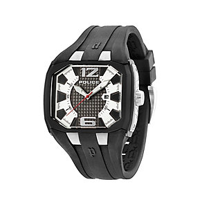 Police Detonator Men's Black Silicone Strap Watch - Product number 1404571