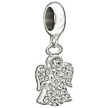 Chamilia silver with Swarovski crystal hanging angel bead - Product number 1404806