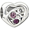 Chamilia Blooming Love purple Swarovski crystal charm - Product number 1404881