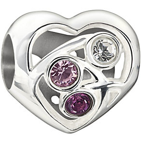Chamilia Blooming Love purple Swarovski crystal charm - Product number 1404881