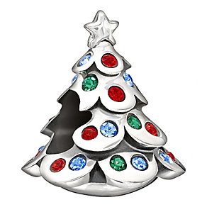 Chamilia silver Christmas tree with Swarovski elements bead - Product number 1404946