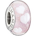 Chamilia silver light pink hearts glass bead - Product number 1404989