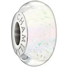 Chamilia silver white confetti glass bead - Product number 1405055