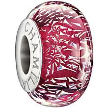 Chamilia silver fuchsia confetti glass bead - Product number 1405071