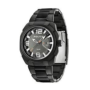 Police Texas Men's Black Stainless Steel Bracelet Watch - Product number 1405594
