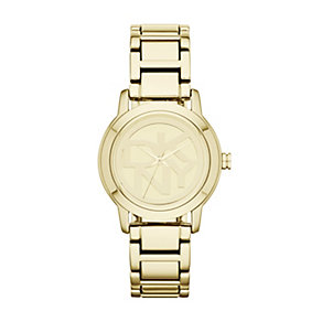DKNY Ladies' Gold-Plated Logo Bracelet Watch - Product number 1405934