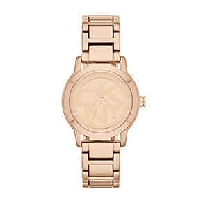 DKNY Ladies' Rose Gold-Plated Logo Bracelet Watch - Product number 1405942