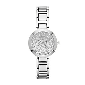 DKNY Ladies' Silver Tone Crystal Bracelet Watch - Product number 1405950