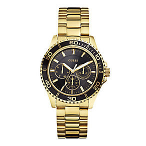 Guess Ladies' Black Dial Gold Tone Bracelet Watch - Product number 1407163