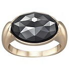Swarovski Jet Hematite crystal gold-plated ring N - Product number 1407422