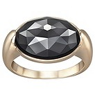 Swarovski Jet Hematite crystal gold-plated ring P - Product number 1407449