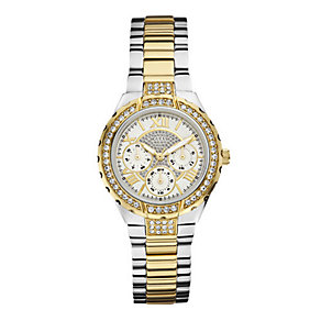 Guess Ladies' Stone Set Two Colour Bracelet Watch - Product number 1407554
