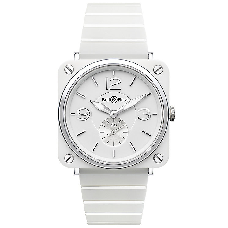 Bell & Ross Ceramic ladies' 39mm white bracelet watch - Product number 1407635