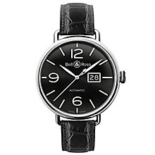 Bell & Ross Vintage men's black leather strap watch - Product number 1407678