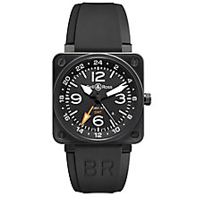 Bell & Ross men's 46mm ion-plated black rubber strap watch - Product number 1407759