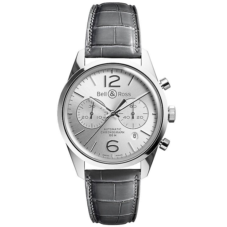 Bell & Ross Officer men's stainless steel grey strap watch - Product number 1407767