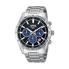 Lorus Men's Black & Blue Dial Stainless Steel Bracelet Watch - Product number 1409077