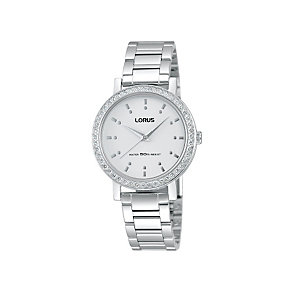 Lorus Ladies' Stone Set Stainless Steel Bracelet Watch - Product number 1409123