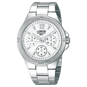 Lorus Ladies' Chronograph Stainless Steel Bracelet Watch - Product number 1409360