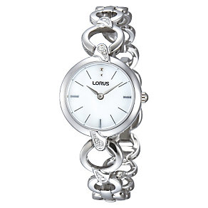 Lorus Ladies' Stone Set Stainless Steel Bracelet Watch - Product number 1409387