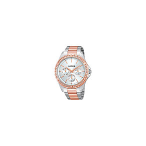 Lorus Ladies' Two Tone Stone Set Bracelet Watch - Product number 1409409