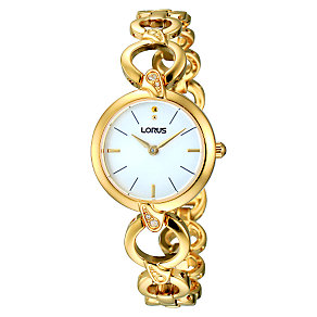 Lorus Ladies' Stone Set Gold Tone Bracelet Watch - Product number 1409417