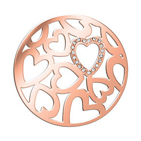 Lucet Mundi rose gold-plated love heart crystal coin - large - Product number 1409700
