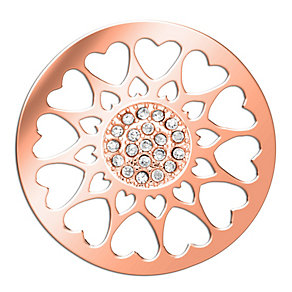 Lucet Mundi rose gold-plated circle love heart coin - small - Product number 1409751