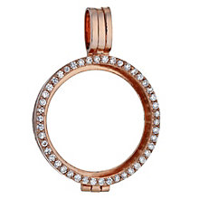 Lucet Mundi rose gold-plated cubic zirconia locket - small - Product number 1409778
