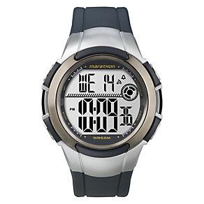 Timex Marathon Children's Digital Blue & Silver Strap Watch - Product number 1410830