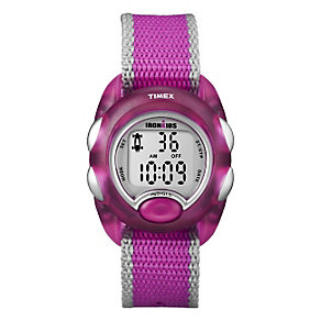 Timex Iron Kids Children's Pink Fabric Strap Watch - Product number 1410873