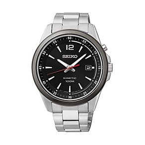 Seiko Men's Black Dial Stainless Steel Bracelet Watch - Product number 1411004