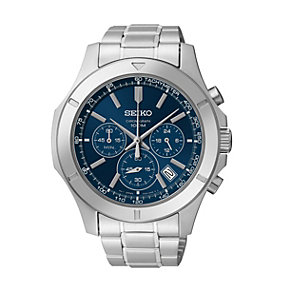 Seiko Men's Blue Dial Stainless Steel Bracelet Watch - Product number 1411012