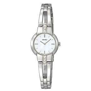 Seiko Ladies' Stainless Steel Stone Set Bracelet Watch - Product number 1411128
