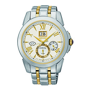 Seiko Men's Kinetic Two Tone Bracelet Watch - Product number 1411136