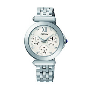 Seiko Ladies' Stone Set Stainless Steel Bracelet Watch - Product number 1411187