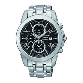 Seiko Solar Men's Chronograph Stainless Steel Bracelet Watch - Product number 1411268