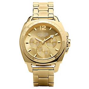 Coach Boyfriend ladies' gold-plated bracelet watch - Product number 1411470