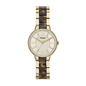 Fossil Virginia Ladies' Tortoiseshell Effect Bracelet Watch - Product number 1411640