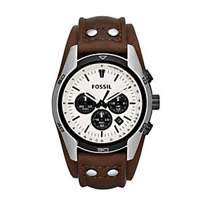 Fossil Coachman Men's Brown Leather Strap Watch - Product number 1411667