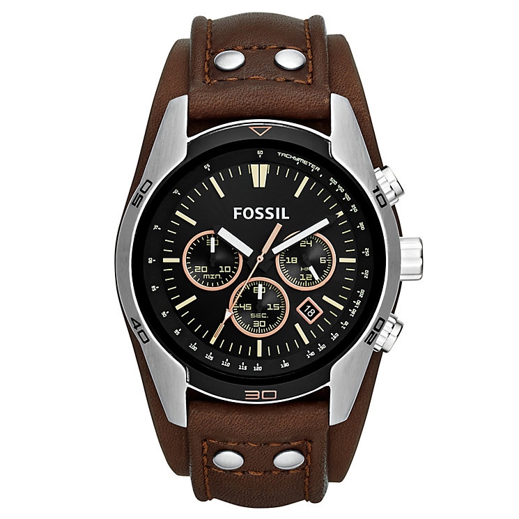 Fossil Coachman Men's Brown Leather Strap Watch - Product number 1411683