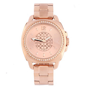 Coach Boyfriend ladies' rose gold-plated bracelet watch - Product number 1412108