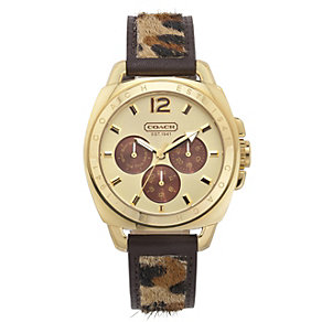 Coach Boyfriend ladies' gold-plated strap watch - Product number 1412124