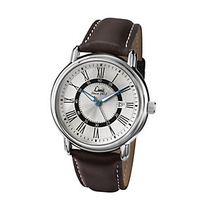 Limit Men's Silver Tone Brown PU Strap Watch - Product number 1412337