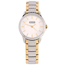 Coach Classic Signature ladies' two colour bracelet watch - Product number 1412353