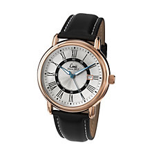 Limit Men's Rose Gold Tone Black PU Strap Watch - Product number 1412361