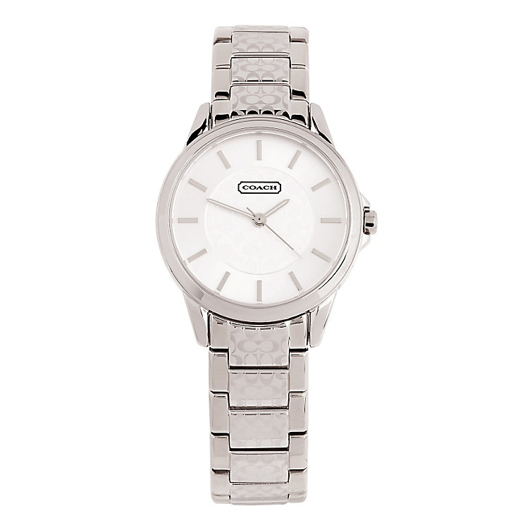 Coach Classic Signature ladies' steel bracelet watch - Product number 1412396