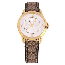 Coach Classic Signature ladies' gold-tone strap watch - Product number 1412590