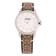 Coach Tristen ladies' silver dial logo fabric strap watch - Product number 1412604