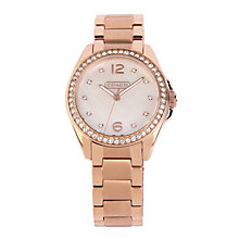 Coach Tristen ladies' rose gold-tone bracelet watch - Product number 1412663
